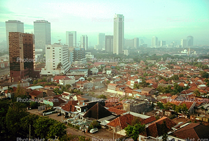 cityscape, skyline, buildings, highrise, high rise, Building, Skyscraper, Jakarta, smog, haze