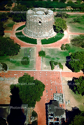 from the top of Qutab Minar, near New Delhi, 1950's