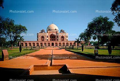 Char Bagh Garden's quadrilateral layout, Humayun's Tomb, Delhi, 1950's