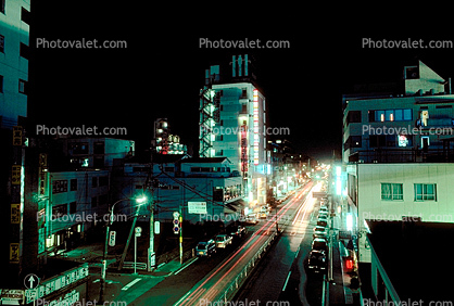 Highrise Buildings, shops, night, nighttime, Ginza District, Tokyo