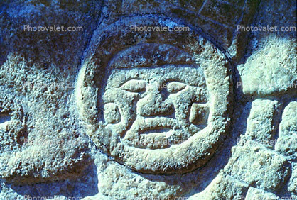 Carving, Stone, bar-Relief, Figure, Chichen Itza