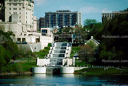 The Rideau Canal, Locks, Waterway, steps
