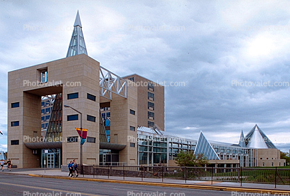 Ottawa City Hall, Glass Pyramids, building, landmark, council chambers, Government Building