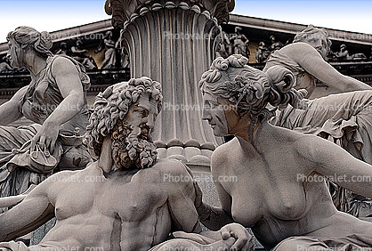 detail of Pallas Athene Fountain, Vienna
