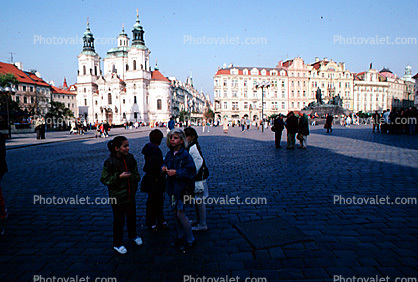 Church, buildings, Old Town Square, Prague