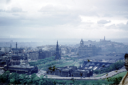 Edinburgh, Scotland, smog, haze, pollution