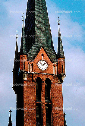 outdoor clock tower, outside, exterior, building, Dresden, roman numerals