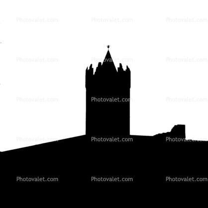 Tower Doonagore silhouette, logo, shape