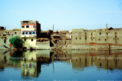 Nile River, buildings, waterfront, reflection