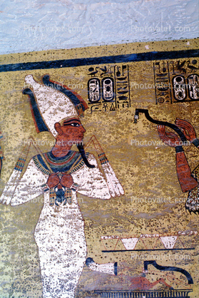 Tomb of King Tutankhamun, Painting, Figure, wall
