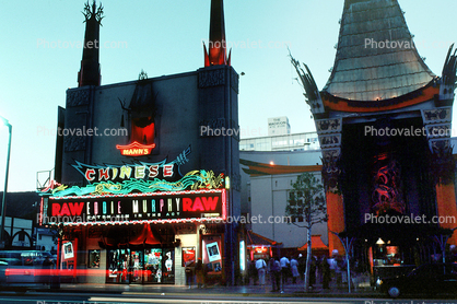 Twilight, Dusk, Dawn, neon sign, TCL Chinese Theatre, Cinema