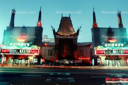 Twilight, Dusk, Dawn, neon sign, cars, Hollywood Boulevard