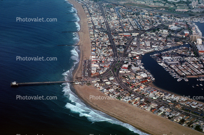 Newport Pier, Balboa, homes, houses, streets, Pacific Ocean