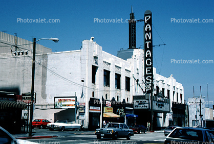 Pantages Theatre, Art Deco, Movie Palace, marquee