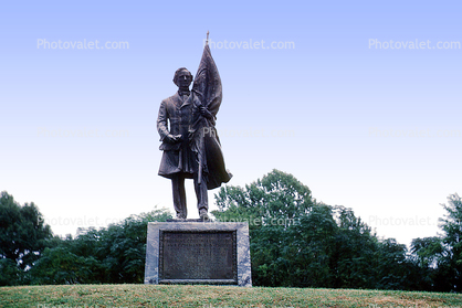 Civil War, President Jefferson Davis Portrait Statue, Vicksburg National Military Park, Mississippi
