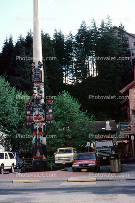 Chief Johnson Totem Pole Replica, Ketchikan