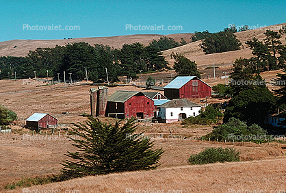 barn, silo, outdoors, outside, exterior, rural, building, shed, Tomales, Marin County
