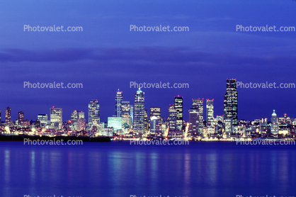Seattle, Twilight, Dusk, Dawn
