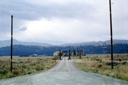 Dirt Road, unpaved, Pinto Ranch, February 1964, 1960's