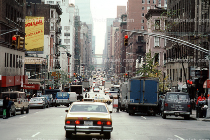 Taxi Cab, automobile, vehicles, cars, buildings, Manhattan