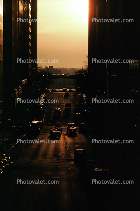 The Grand Hyatt, awning, buildings, early morning Street Scene, Manhattan