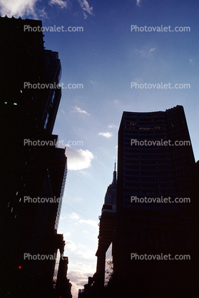 Buildings, Canyons of Manhattan, looking up