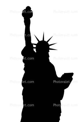 Statue Of Liberty silhouette, logo, shape