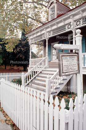 King-Tisdell Cottage, Museum of Black History, House, Home, Building, Ornate, Porch, White Picket Fence, Savannah, opulant