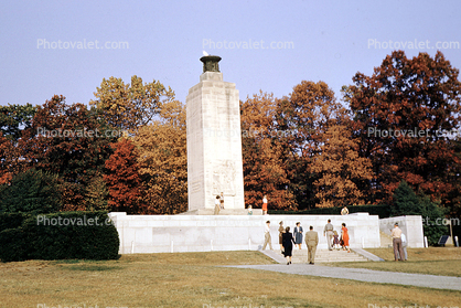 main Gettysburg monument for all soldiers, with perpetual flame, Eternal Flame, Gettysburg