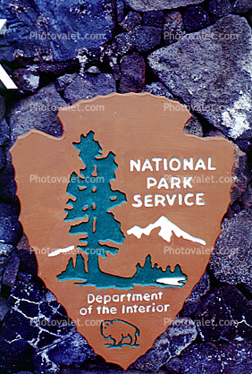 National Park Service, emblem, shield, arrowhead