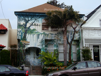 Diamond Heights, faux painting