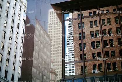 Transamerica Pyramid, reflection, reflecting, building, detail