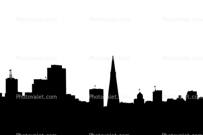 San Francisco Skyline silhouette, logo, shape