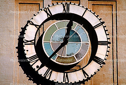 round, circle, circular, dials, building, detail, outdoor clock, outside, exterior, roman numerals