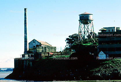 Alcatraz Island, Water Tower, Chimney