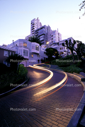 Brick roadway, Garden, Hairpin Turn, Switchback, S-curve, curviest, homes, houses, buildings