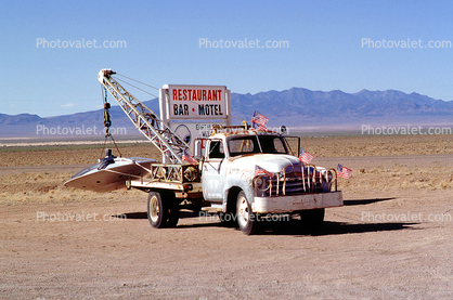 tow truck, UFO, Flying Saucer, Towtruck, Roswell