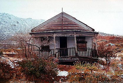 Home, House, building, snow, cold, Virginia City