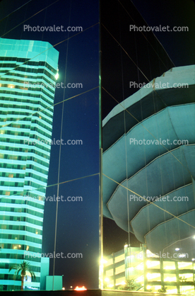 Reflections in glass, buildings
