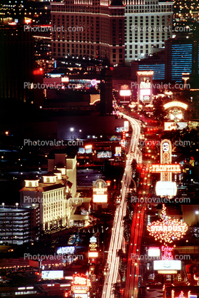 Buildings, The Strip, Nighttime, Night, neon signs