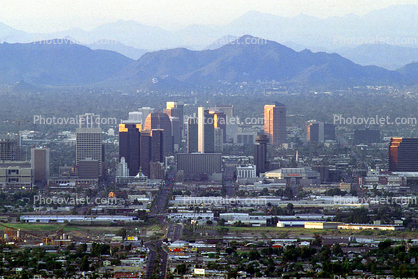 Downtown Phoenix, Cityscape, Skyline, Buildings, Skyscrapers