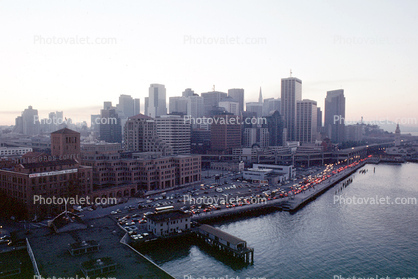 blacked out downtown, the Embarcadero, Loma Prieta Earthquake (1989), 1980's