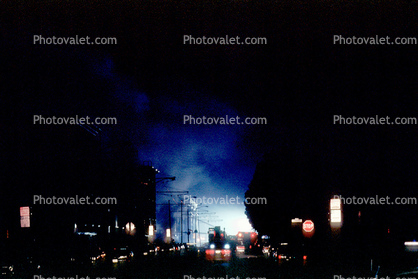 nighttime, Marina District, Loma Prieta Earthquake (1989), 1980's