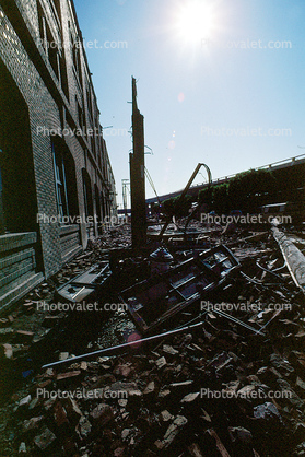 Bricks, Townsend Street, south of Market, SOMA, Loma Prieta Earthquake (1989), 1980's