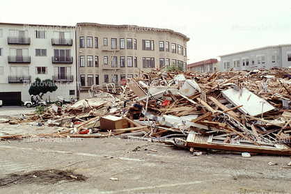 Fillmore Street, Marina district, Loma Prieta Earthquake (1989), 1980s
