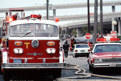 flashing lights, American LaFrance head-on, Fire Engine