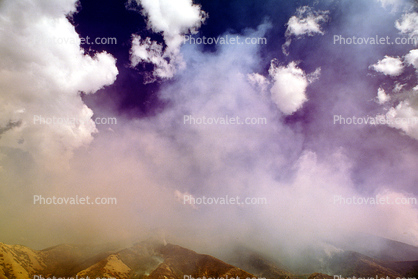 Mountains, Forest Fire, Smoke, Utah, clouds, sky