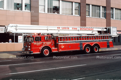 Hook and Ladder Truck, St. Louis Fire Department, Snorkel, No.6