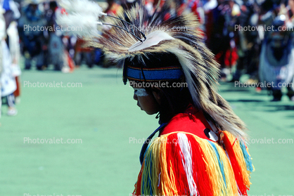 Male Dancer, ethnic costume, headdress, feathers