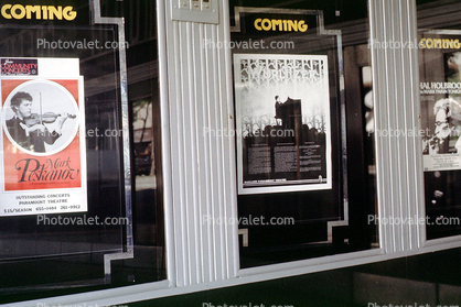 Paramount Theatre, billboards, posters